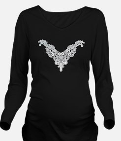 Victorian Lace Long Sleeve Maternity T-Shirt