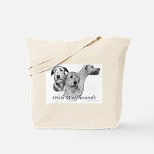3 Irish Wolfhound Head Study Tote Bag