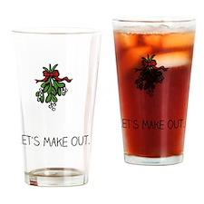 Unique Mistletoe Drinking Glass