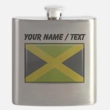 Jamaica Flag (Custom) Flask