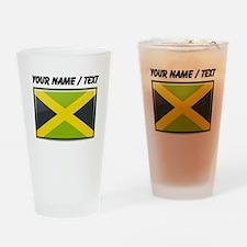 Jamaica Flag (Custom) Drinking Glass