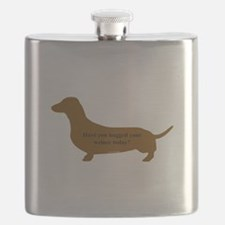 Funny Dachshund lovers Flask