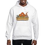 T-Rex's In Box/Out Box Hooded Dinosaur Sweatshirt