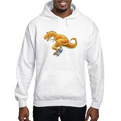 T-rex exteme Skateboard Hooded Dinosaur Sweatshirt