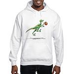 Raptor with Basketball Hooded Dinosaur Sweatshirt