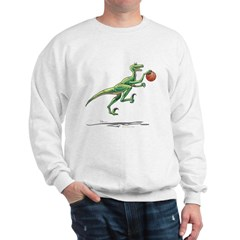 Action Raptor with Basketball Dinosaur Sweatshirt