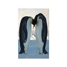 Kissing Penguins Area Rug