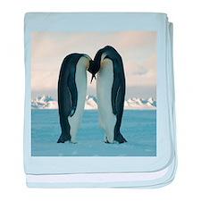 Kissing Penguins baby blanket