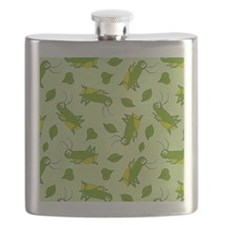 Lucky Cricket Pattern Flask