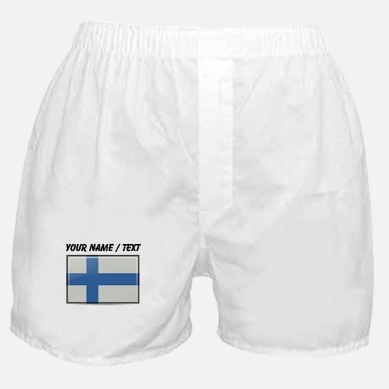 Finland Flag (Custom) Boxer Shorts