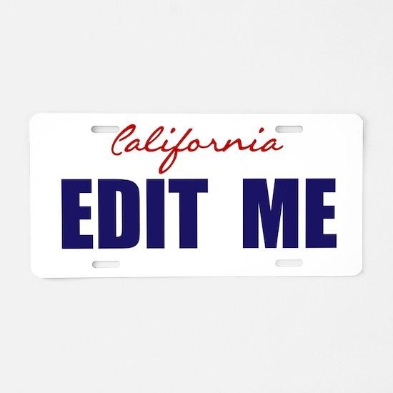 California Basic White Aluminum License Plate