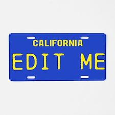 California - 1982 Vintage Aluminum License Plate
