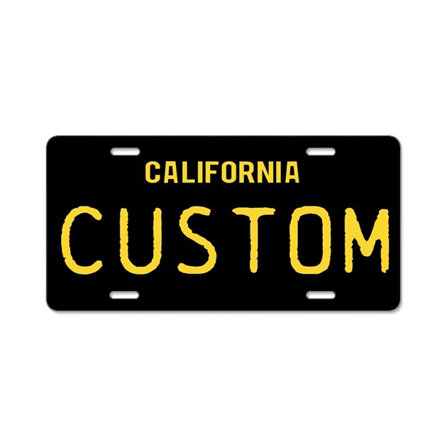 California 1963 Vintage Aluminum License Plate By