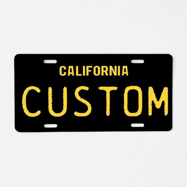 California - 1963 Vintage Aluminum License Plate