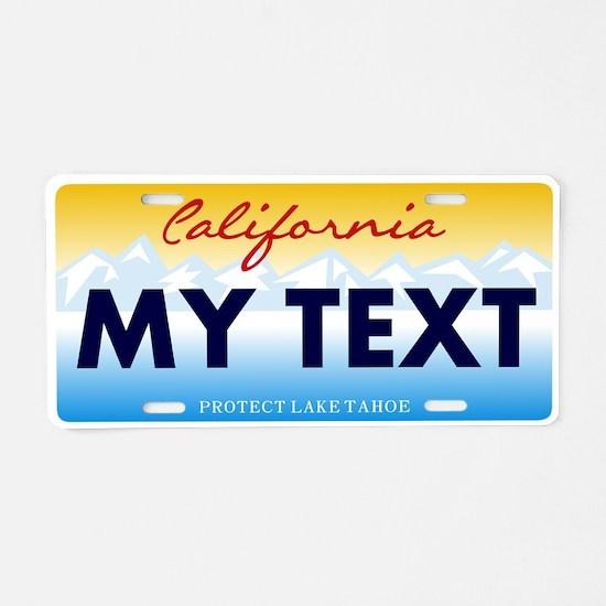 California Lake Tahoe Aluminum License Plate