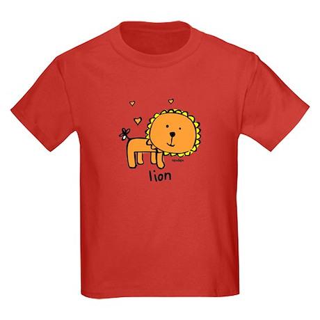 Resden Cute Lion Kids Dark T-Shirt