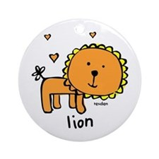 Resden Cute Lion Ornament (Round)