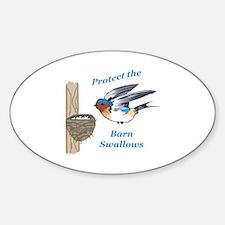PROTECT BARN SWALLOWS Decal