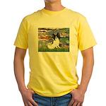 Lilies (2) & Papillon Yellow T-Shirt