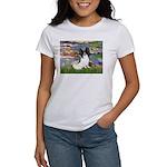 Lilies (2) & Papillon Women's T-Shirt