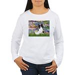 Lilies (2) & Papillon Women's Long Sleeve T-Shirt
