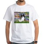 Lilies (2) & Papillon White T-Shirt