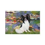Lilies (2) & Papillon Rectangle Magnet (10 pack)