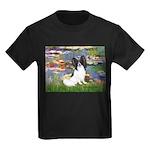 Lilies (2) & Papillon Kids Dark T-Shirt