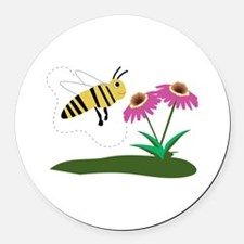 Busy Bee Round Car Magnet