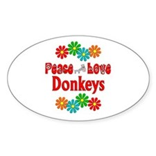 Peace Love Donkeys Decal