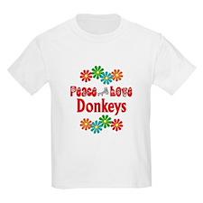 Peace Love Donkeys T-Shirt