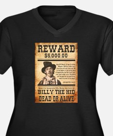 NOSTALGIC BILLY THE KID WANTED POSTER Plus Size T-