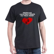 Pekingese Leave Paw Prints On Your Heart T-Shirt