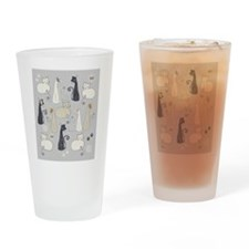 Whimsical Cats Drinking Glass