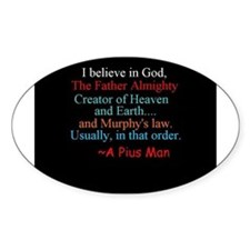 I believe in God Decal