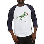 Raptor with Basketball Dinosaur Baseball Jersey