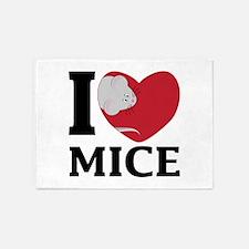 I Love Mice 5'x7'Area Rug