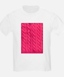 Wool cable stitches T-Shirt