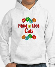 Peace Love Cats Hoodie