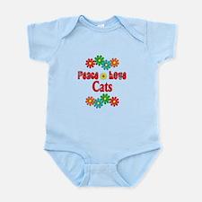 Peace Love Cats Infant Bodysuit