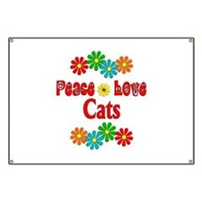 Peace Love Cats Banner