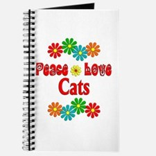Peace Love Cats Journal
