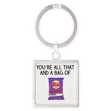 Cute Funny valentine's day Square Keychain