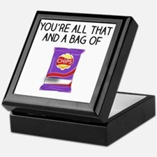 Unique All that and a of chips Keepsake Box