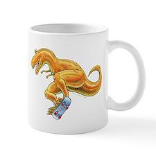 T-Rex Extreme Sport Skateboard Dinosaur Mug