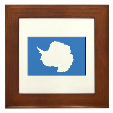 Antarctica Flag Framed Tile