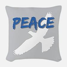 Peace Dove Woven Throw Pillow