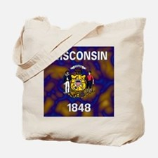 Wisconsin State Flag Tote Bag