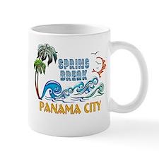 3D Palms Waves Sunset Spring Break PANAMA CIT Mugs