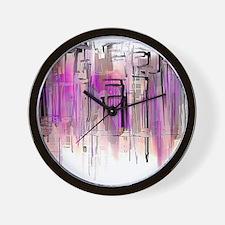Purple and Blush City Wall Clock
